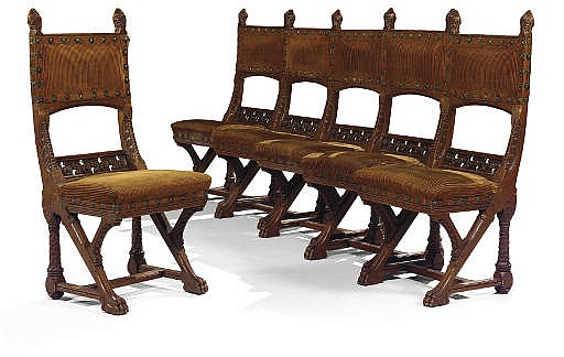 ENSEMBLE DE SIX CHAISES