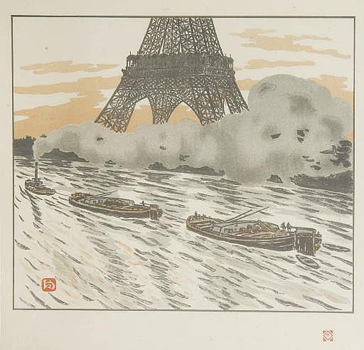 RIVIÈRE, Henri (1864-1951).  Les Trente-six vues de la tour Eiffel. Prologue d'Arsène Alexandre . Paris: Imprimerie Eugène Verneau, 1888-1902.