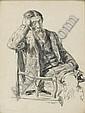 Un vieil homme barbu assis dans un fauteuil, Paul Renouard, Click for value