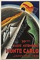 MONTE-CARLO, RALLYE AUTOMOBILE, JANVIER 1931 , Robert Falcucci, Click for value