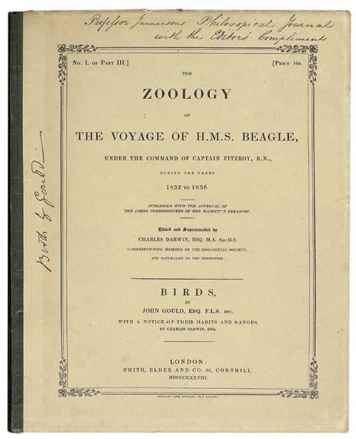 CHARLES ROBERT DARWIN (1809-1882, EDITOR)