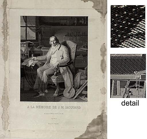 joseph marie jacquard 1752 1854 essay Get this from a library À la memoire de jm jacquard : né a lyon le 7 juilliet 1752, mort le 7 aeout 1854 [claude bonnefond] -- picture shows joseph marie.