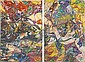 Dominions signed, titled and dated '1960 DOMINIONS Philip Wofford' (on the reverse) oil on canvas 128½ x 85 in. (325.1 x 215.9 cm.) Painted in 1960. Dominions signed and dated 'Wofford 60' (lower center); signed again, titled and dated again, Philip Wofford, Click for value