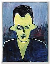 René Daniëls (b. 1950) Borsalino oil on canvas 31 ½ x 23 5/8in. (80 x 60cm.)