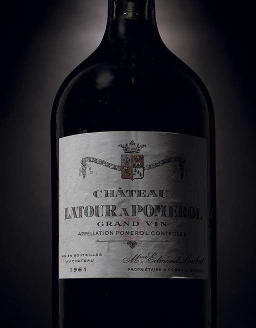 <B>Château Latour à Pomerol--Vintage 1961</B>