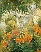 JOHN HENRY TWACHTMAN (1853-1902)Tiger Liliesoil on canvas30 x 25 in. (76.2, John Henry Twachtman, Click for value