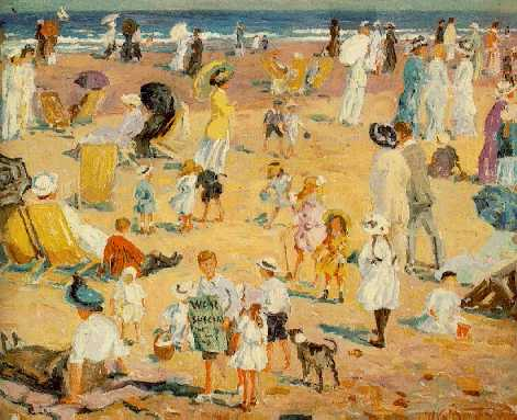WILLIAM SAMUEL HORTON (1865-1936)Beach in the Sunsigned W. S. Horton and