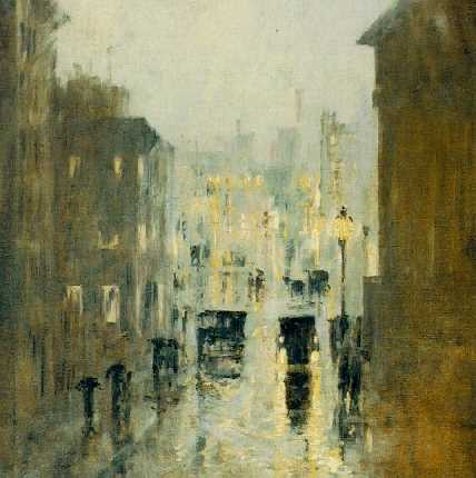 PHILIP LITTLE (1857-1942)Rainy Night In Washingtonsigned Philip Little and
