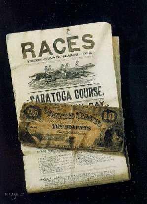 NICHOLAS ALDEN BROOKS (1840-1904)Ten Dollars on the First Race,
