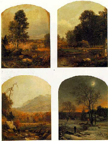 SAMUEL LANCASTER GERRY (1813-1891)The Four Seasons: Four paintingsall,