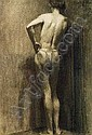 THOMAS POLLOCK ANSHUTZ (1851-1912)Male Nude Studysigned Thos. P. Anshutz, Thomas Pollock Anshutz, Click for value