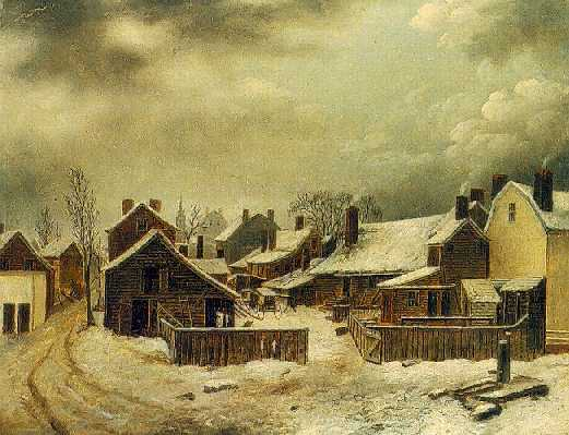 FRANCIS GUY (1760-1820)Brooklyn in Winteroil on canvas38 1/2 x 48 3/4 in.