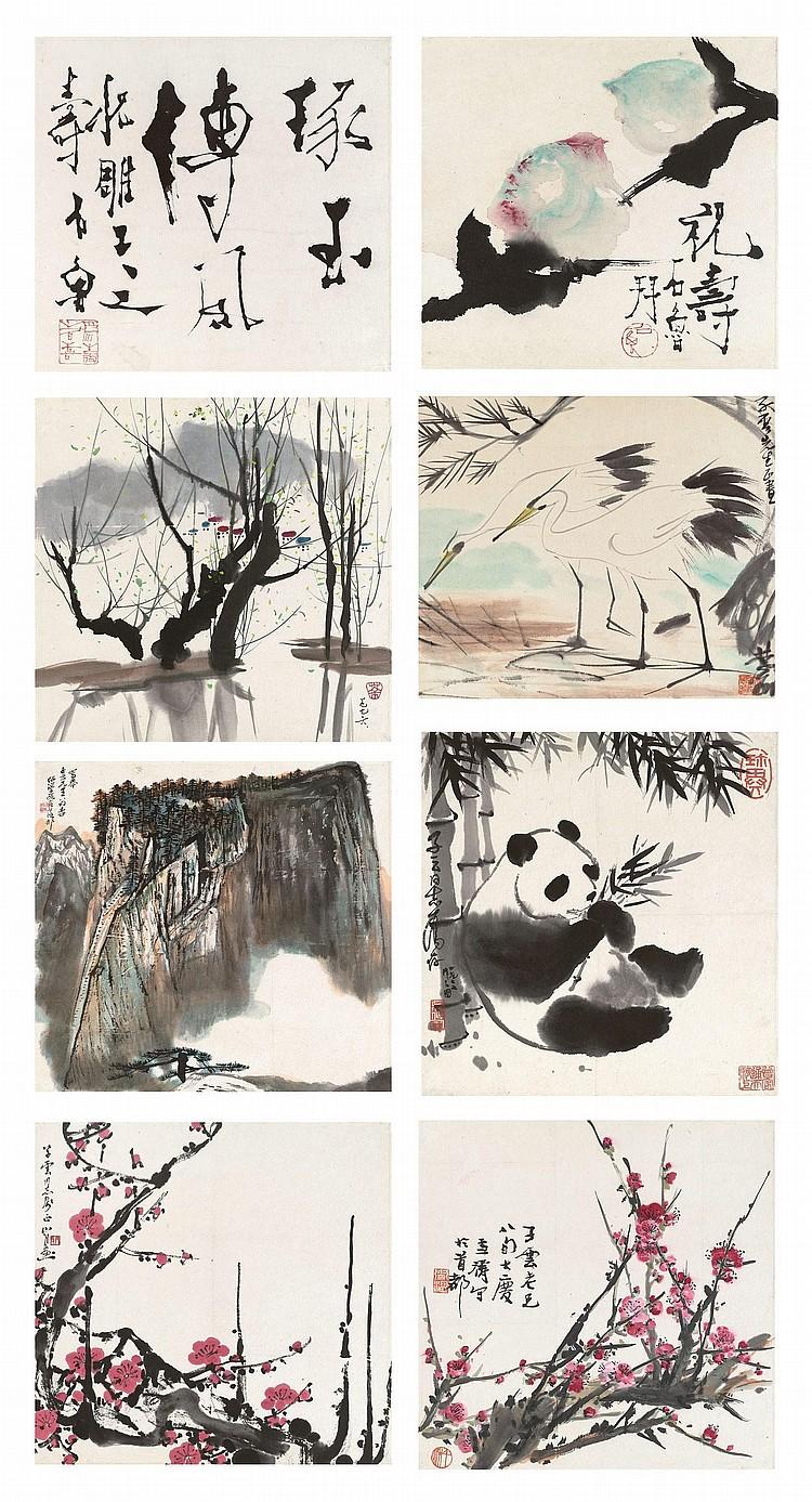 LIN FENGMIAN (1900-1991) WU GUANZHONG (1919-2010) / SHI LU (1919-1982) GUAN SHANYUE (1912-2000) / WU ZUOREN (1908-1997) and others
