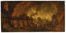 CIRCLE OF JACOB ISAACSZ. VAN SWANENBURG (LEIDEN 1571-1638 UTRECHT) Devils torturing sinners in Hell