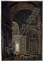 Illumination de la Croix de Saint-Pierre (An Interior of St. Peter's from the North Transept, with the Baldacchino, the Illuminated Hanging Cross, and St. Andrew) (c.f. Nils Wollin 1, pp. 109-110), Francesco Piranesi, Click for value