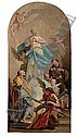 The Immaculate Conception with Saints Joseph and Anthony, in a painted arched top, Giambattista Pittoni, Click for value