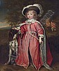 Portrait of a boy, possibly Philip, 7th Earl of Pembroke (1652-1683), full-length, in robes of the Order of the Bath, with his hound, in a wooded landscape, a horse and equerry beyond, John Michael Wright, Click for value
