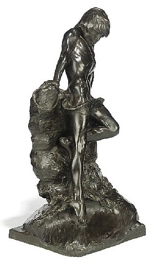 AN AMERICAN BRONZE ENTITLED 'THE BATHER'