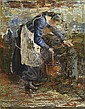 Frau am Brunnen, 1896 , Giovanni Segantini, Click for value