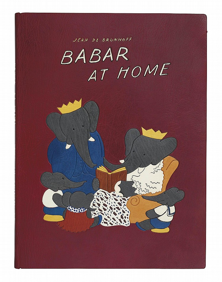 BRUNHOFF, Jean de (1899-1937).  Babar at Home  -  Babar and Father Christmas . London: Methuen, 1938-1940.