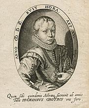 JACQUES DE GHEYN II (1565-1629) Portrait of Hugo Grotius, aged 15 Plate 89 x 107 mm., Sheet 133 x 105 mm.