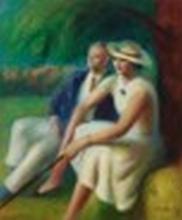 Guy Pène du Bois (1884-1958) - Sunday Walkers