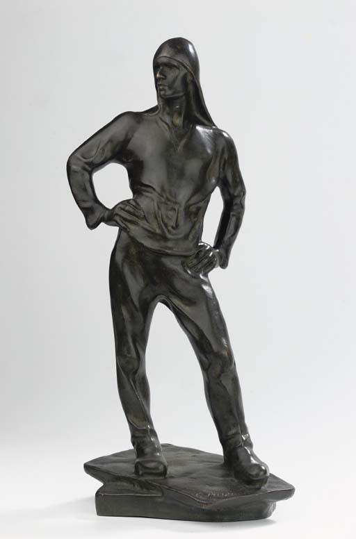 Cast from a model by Constantin Meunier (Belgian, 1831-1905), late 19th /early 20th century