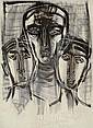 Untitled (The Three Faces), Zainul Abedin, Click for value