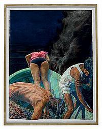 John Valadez (American, b. 1951)