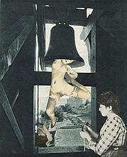 Georges Hugnet (1906-1974) Le Clocher photocollage, mounted on board image: 10 x 8 ¼ in. (25.5 x 21 cm.) mount: 15 x 12 ¾ in. (38.2 x 32.4 cm.)