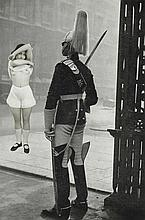 Georges Hugnet (1906-1974) Untitled (Scantily Clad Girl Exposing Herself to Palace Guard) gelatin silver print photocollage, mounted on board image: 10 ½ x 7 in. (26.7 x 17.7 cm.) mount: 15 ¼ x 11 in. (38.7 x 28 cm.)