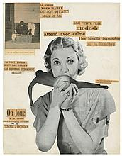 Georges Hugnet (1906-1974) Une petite fille modeste (or Le Scandale) gelatin silver print photocollage on paper, mounted on board image: 12 ¾ x 9 ¾ in. (32 x 2 cm.) mount: 17 7/8 x 14 7/8 in. (45.4 x 37 cm.)