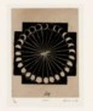 ZARINA (1937-2020) Moon (from Home is a Foreign Place) woodblock print on h