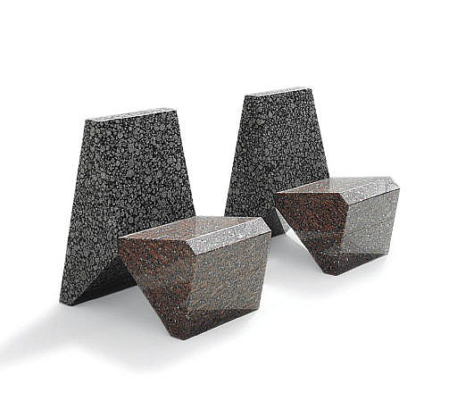 Pair of Granite Chairs