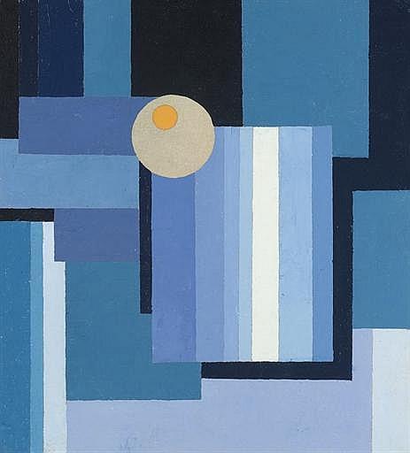 Sonnen-Zeichen vor Blau ( recto ); Gebirgslandschaft ( verso )
