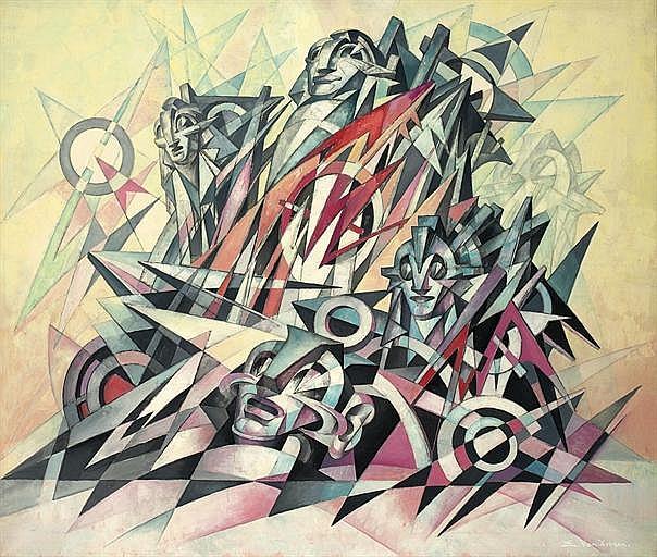 Maschinenmenschen (cubo-futurist composition)