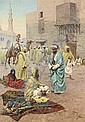 Pilgrims outside a mosque , Giulio Rosati, Click for value