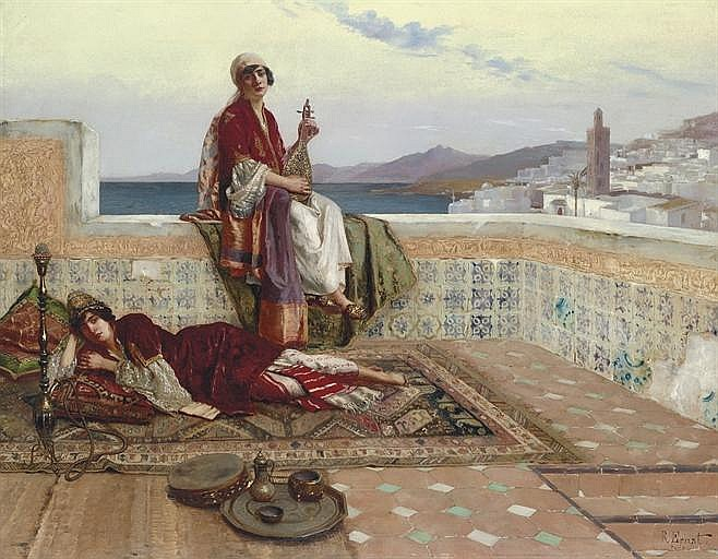 On the terrace, Tangiers