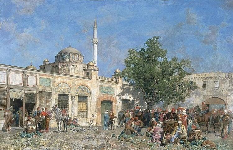 Il mercato di Costantinopoli, presso le mura: The market of Constantinople