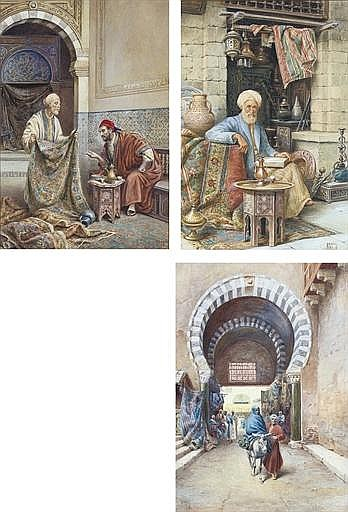 The carpet merchant; The scholar; and Leaving the souk