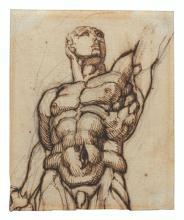 HENRY FUSELI, JOHANN HEINRICH FÜSSLI, R.A. (ZURICH 1741-1825 LONDON) - Study of one of the Quirinal Dioscuri