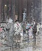 Crowds in the Pantheon, Rome (illustrated); and Santa Maria Formosa, Venice, Diana Maxwell Armfield, Click for value