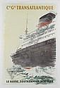 Cie. Gle. Transatlantique, Le Havre, Southampton, New York , Albert Victor Eugène Brenet, Click for value