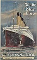 White Star Line, Europe to America , Montague Birrell Black, Click for value