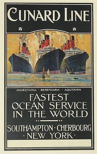 Cunard Line, Mauretania, Berengaria, Aquitania