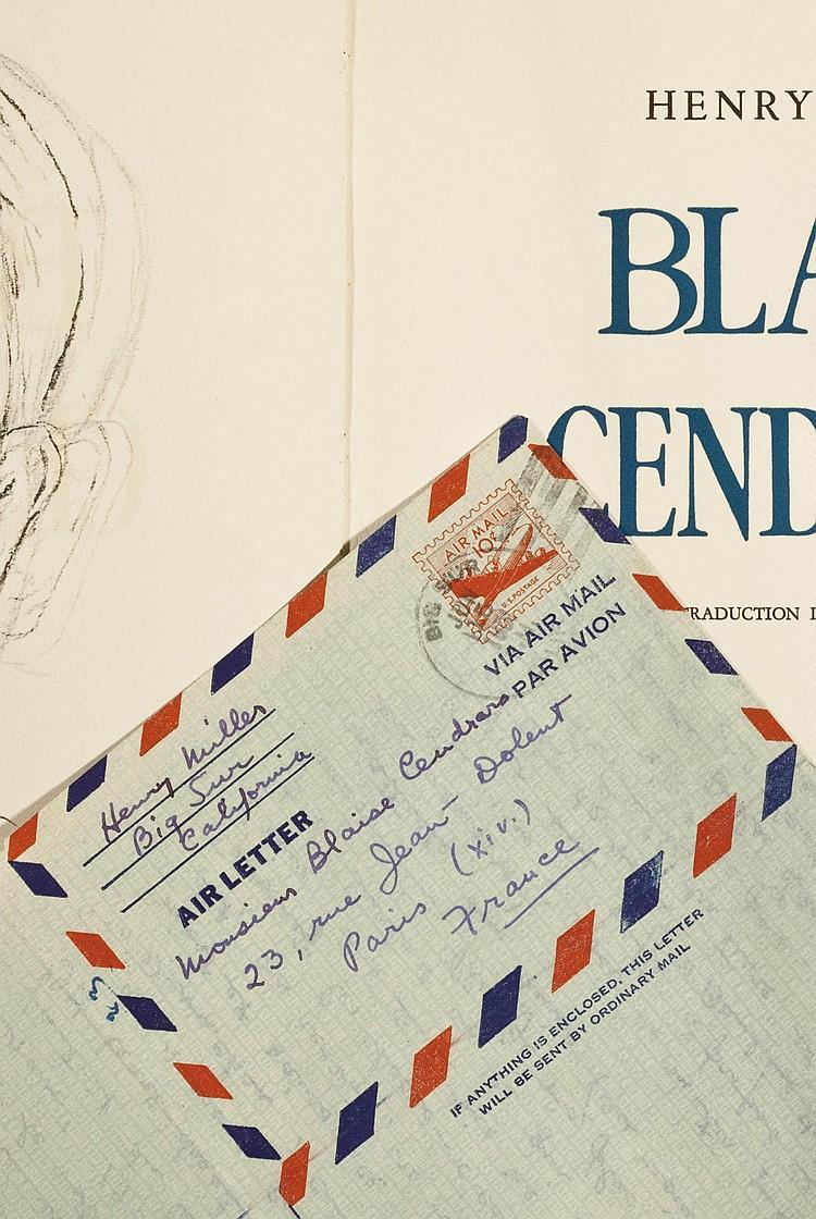 MILLER, Henry (1891-1980).  Blaise Cendrars . Paris: Denoël, 30 avril 1951.