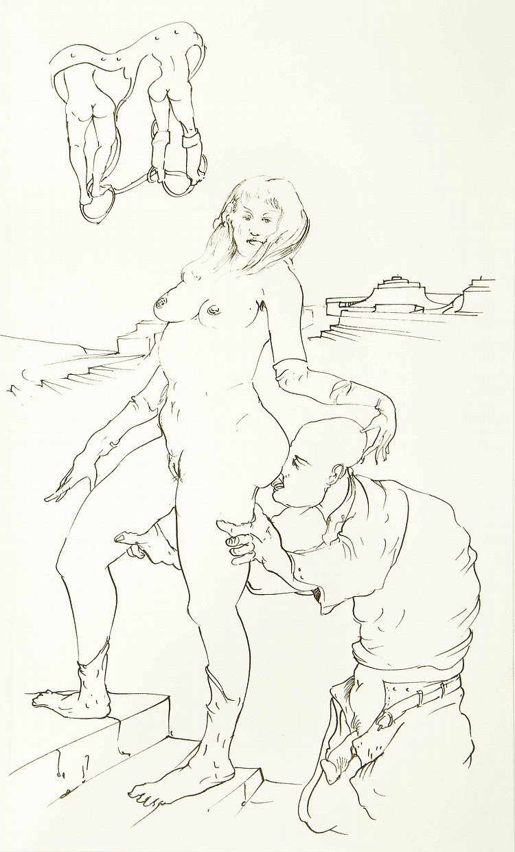 [MILET] -- KRAFFT-EBING.  Psychopatia Sexualis.  Dessins originaux de Yves Milet, 1982.