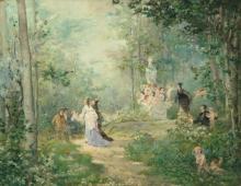 JULES BASTIEN-LEPAGE (FRENCH, 1848–1884), Au printemps,