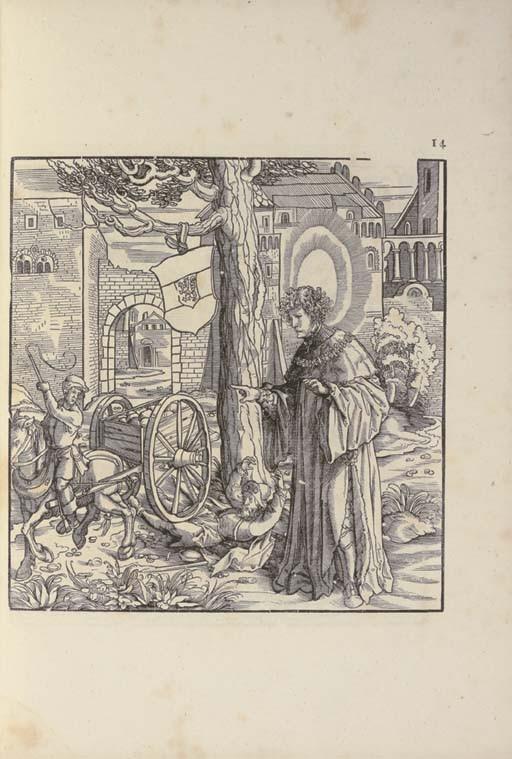 BURGKMAIR, Hans (1473-1531). <I>Images de Saints et Saintes issus de la famille de l'Empereur</I>