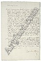 CALIARI, Paolo, known as VERONESE (1528-1588). Autograph letter signed ('Paolo Caliari Pittore') to Marcantonio Gandini ('Molto Mag[nifi]co S[igno]re mio'), [Venice], 5 January 1578, one page, 4to , on a bifolium with integral address leaf, Paolo Veronese, Click for value